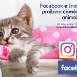 Facebook e Instagram proíbem comércio de animais vivos
